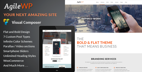 Agile – Multi-Purpose App Showcase WordPress Theme