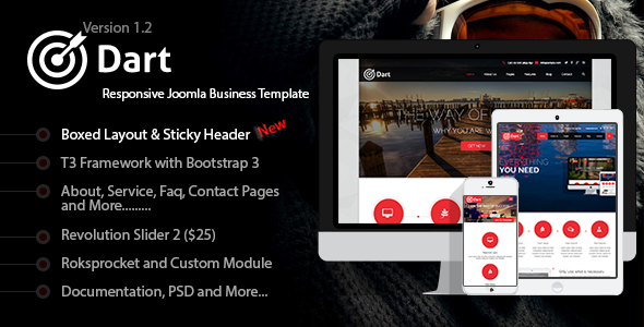 Dart – Responsive Joomla Business Template