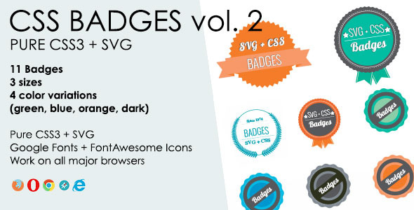 CSS3 + SVG Badges - CodeCanyon Item for Sale