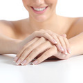 Beautiful woman hands nails with perfect french manicure - PhotoDune Item for Sale