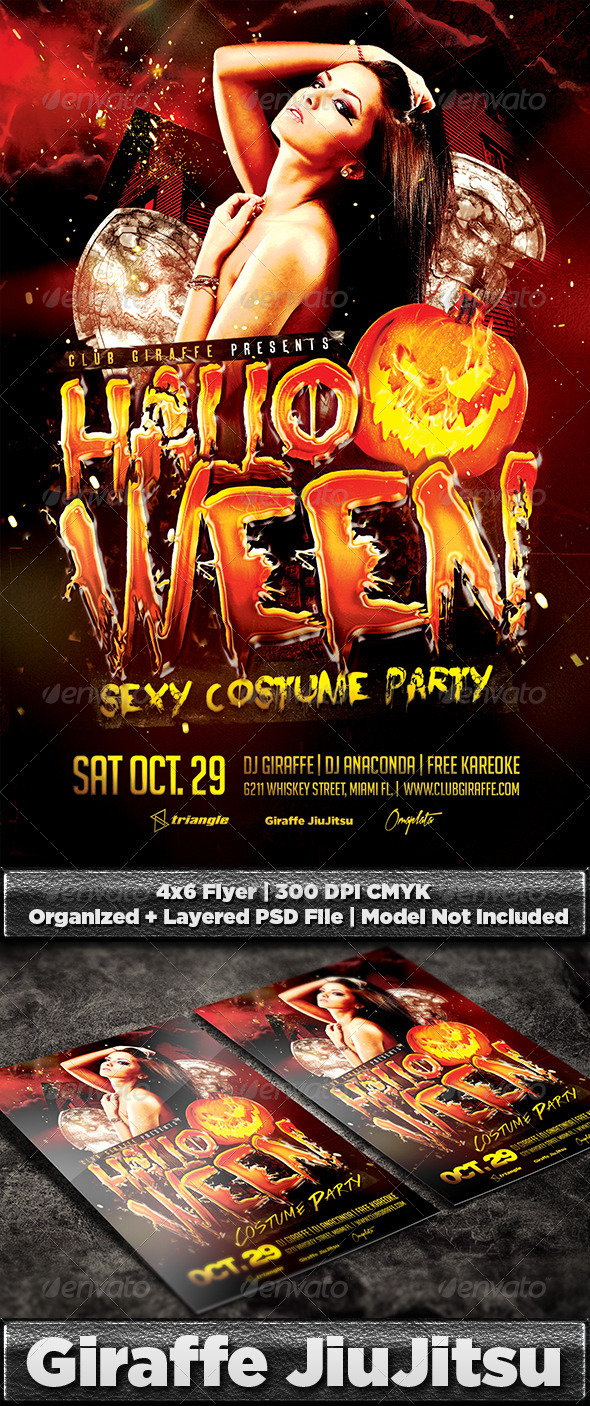 Halloween Costume Party Flyer Template - Holidays Events
