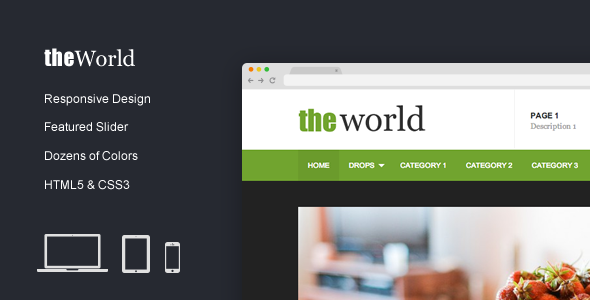 TheWorld – Fresh Magazine Template