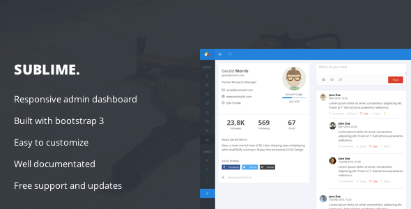 Sublime – Web Application Admin Dashboard