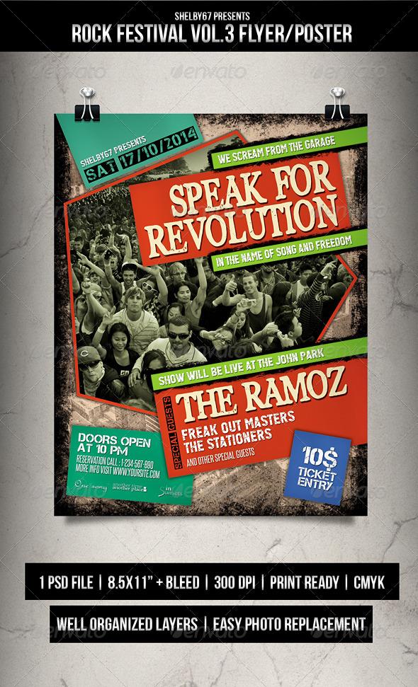Rock Festival Flyer / Poster Vol.3 - Events Flyers