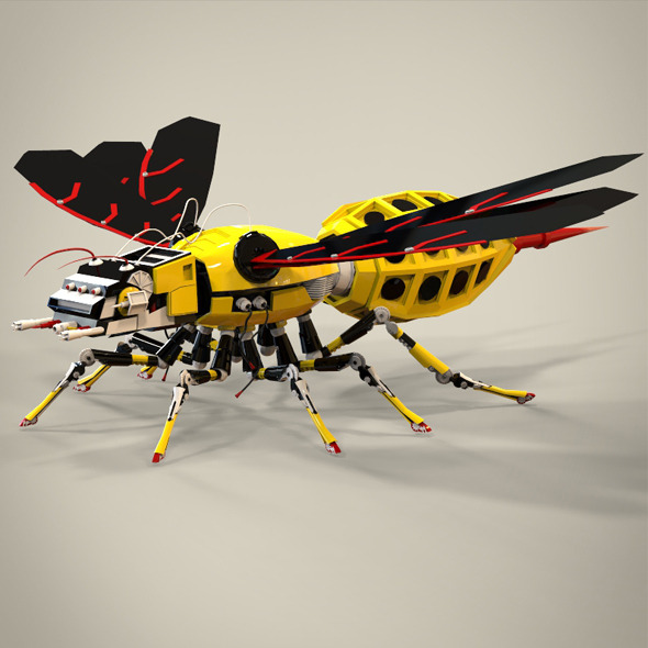 robotic bee - 3DOcean Item for Sale