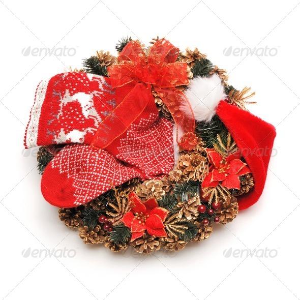 Christmas wreath - Stock Photo - Images
