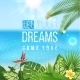 Tropical Landscape with Type Design - GraphicRiver Item for Sale