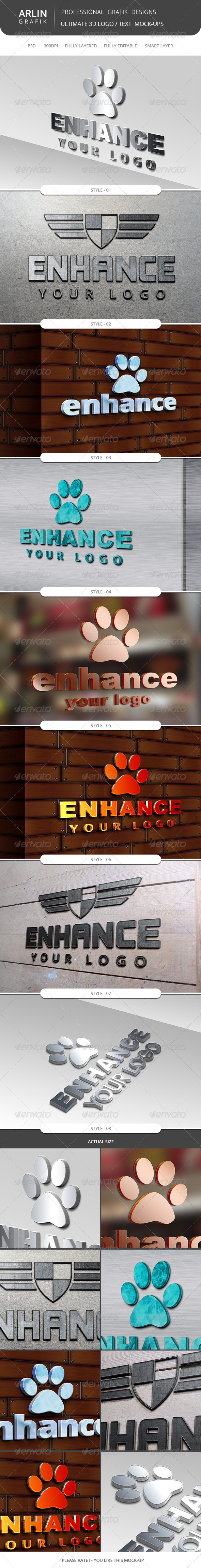 Ultimate 3D Logo Mockups - Logo Product Mock-Ups