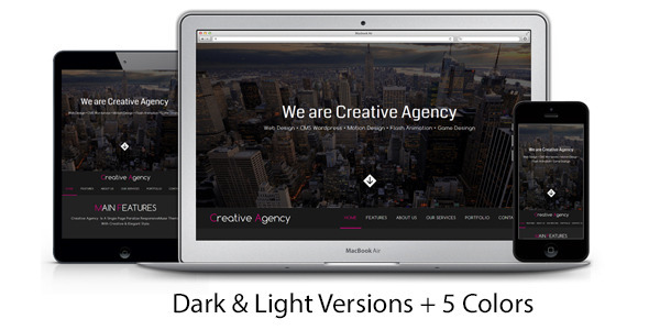 Creative Agency One Page Multipurpose Muse Template