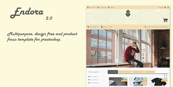 Endora - Responsive Prestashop Theme - PrestaShop eCommerce