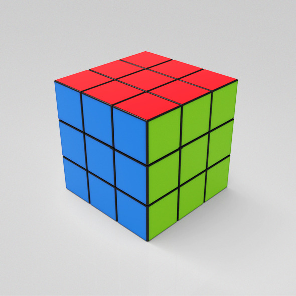 Rubik Cube - 3DOcean Item for Sale