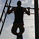 Strong Man doing Pull Ups under the Sun - VideoHive Item for Sale
