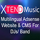 XTEND Music - Multilanguage site for DJs & Band