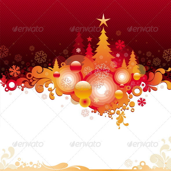 Decorative Christmas Background - Seasons/Holidays Conceptual