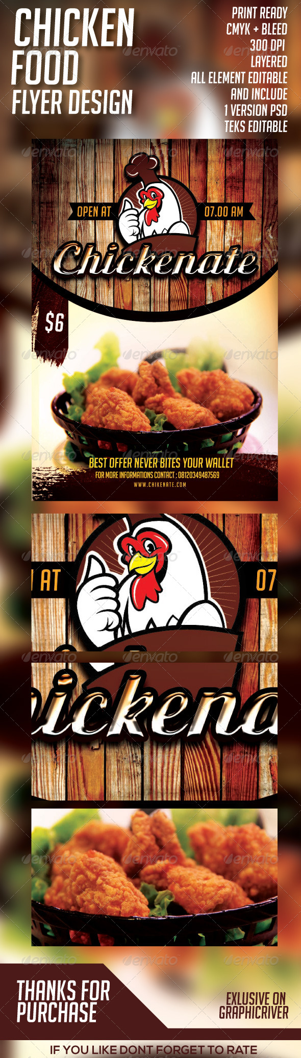 Chicken Food Flyer Template PSD by H_M | GraphicRiver