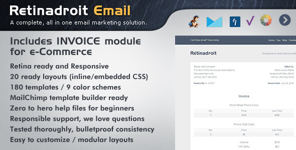 Responsive Email Template & Invoice Template