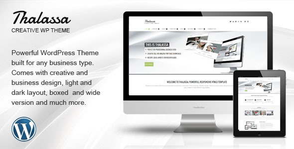 Thalassa Multipurpose Responsive Wordpress Theme - Corporate WordPress
