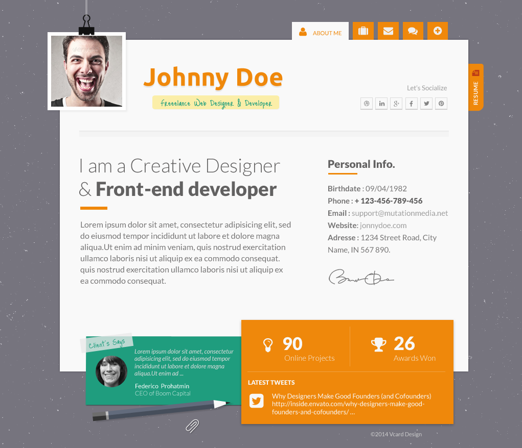 resume website templates pxl vcard super cool animated responsive design by pxlguru