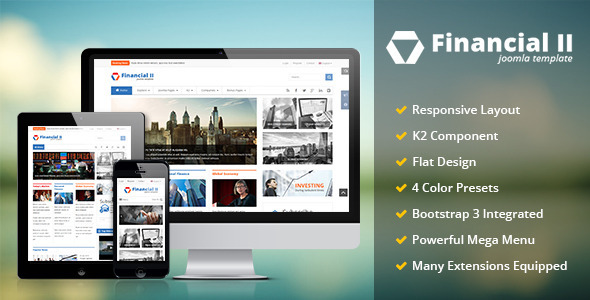 Financial II – Responsive Financial Joomla Theme