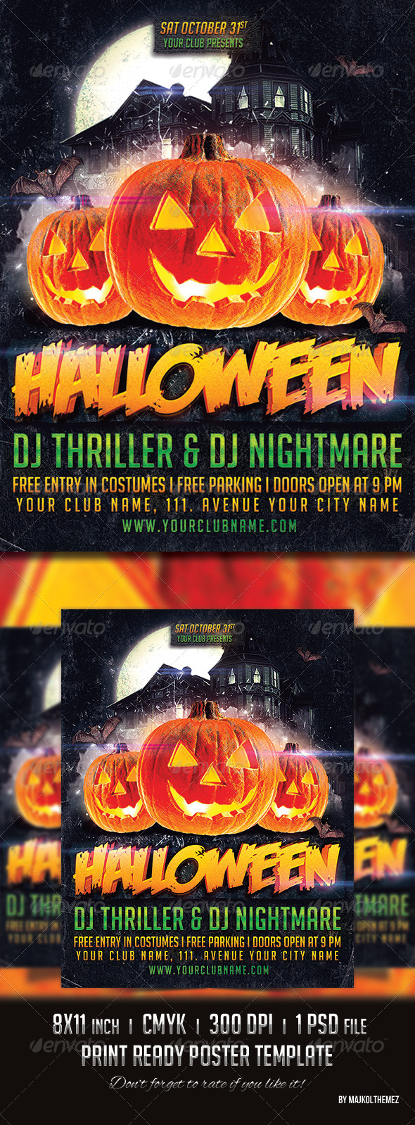Halloween Party Poster 2014 - Holidays Events