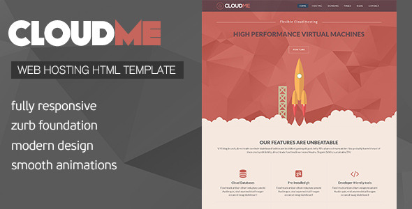 Cloud Me – Web Hosting, Responsive HTML Template