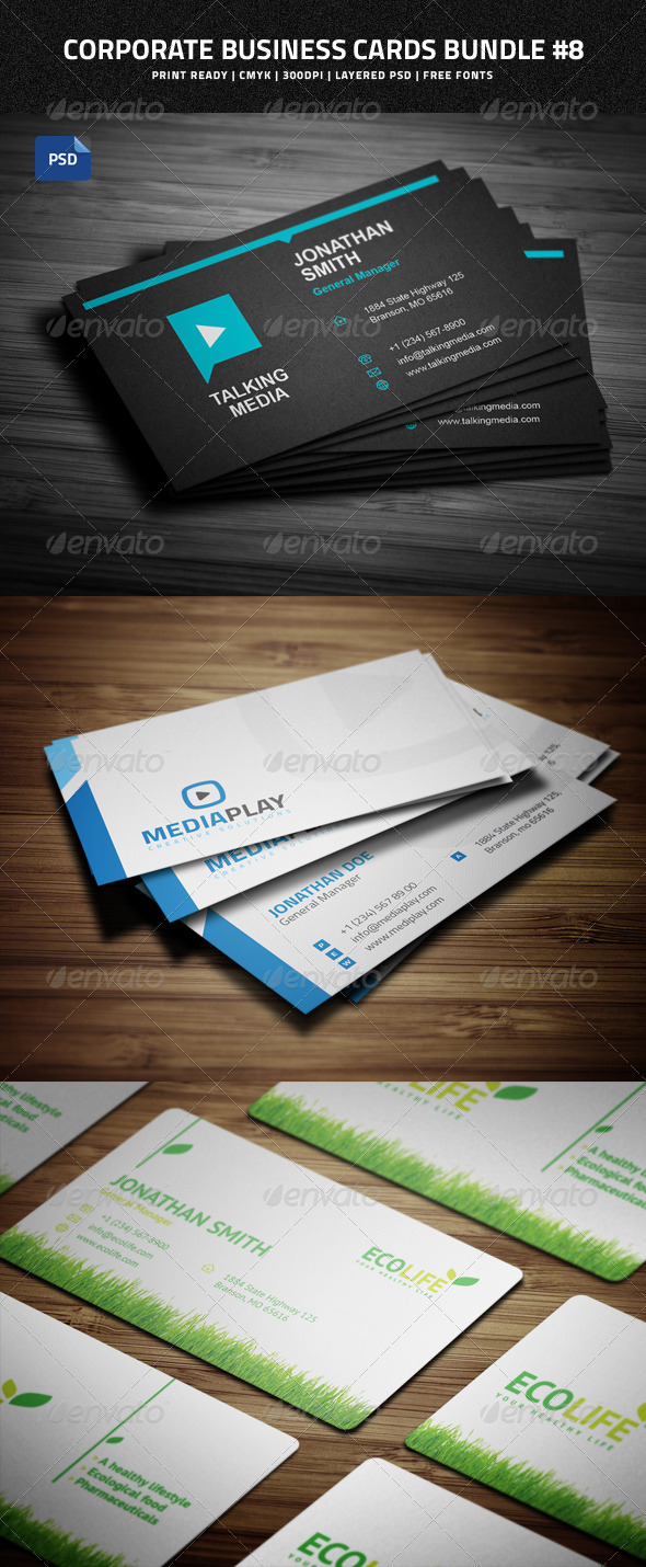 Creative Business Cards Bundle #8 - Business Cards Print Templates