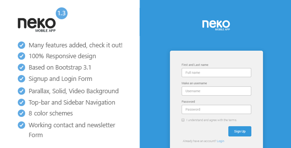 Neko – Responsive Bootstrap App Landing Page