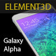 Element3D - Samsung Galaxy Alpha - 3DOcean Item for Sale