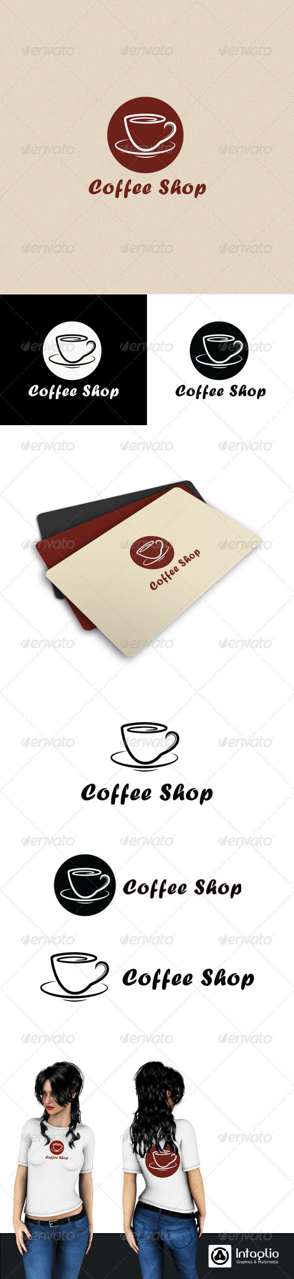 Coffee Shop Logo - Objects Logo Templates