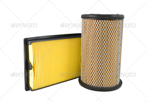 Close-up of a air filter - Stock Photo - Images