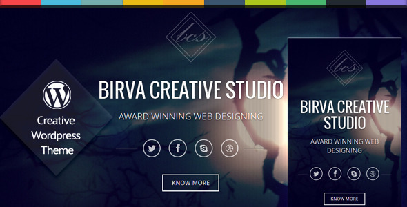 Birva – One Page Responsive WordPress Theme
