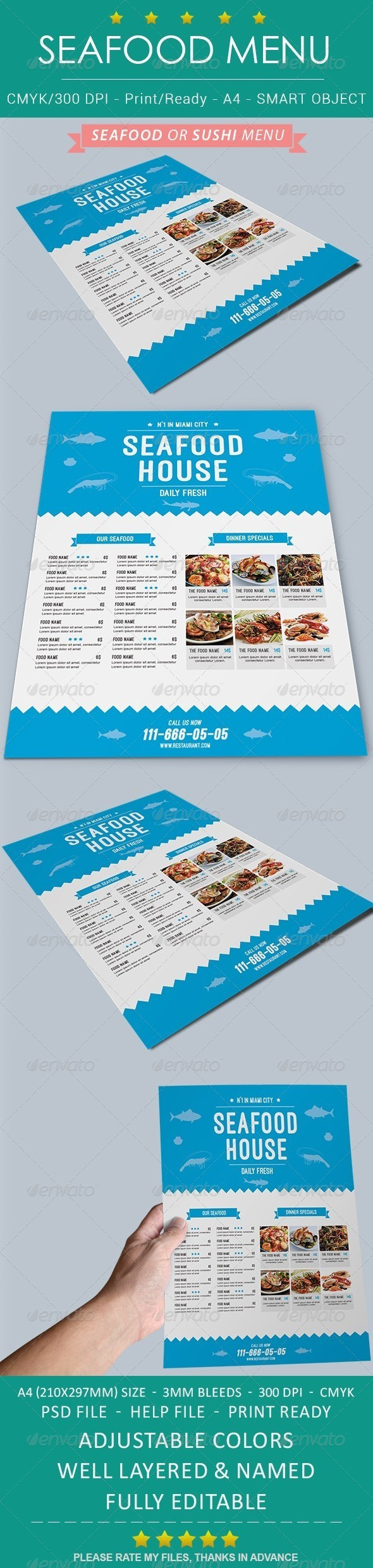 Seafood Sushi Restaurant Menu