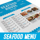 Seafood Sushi Restaurant Menu - GraphicRiver Item for Sale