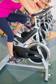 Spin class working out in a row at the gym - PhotoDune Item for Sale