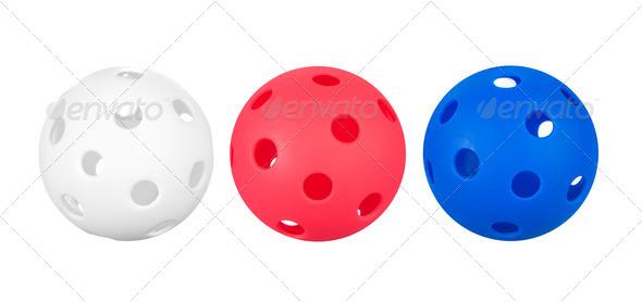Whiffle balls - Stock Photo - Images