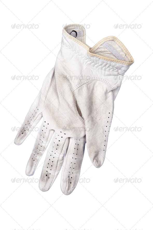 Golf glove on white background - Stock Photo - Images