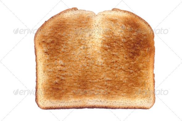 Toast isolated on white - Stock Photo - Images