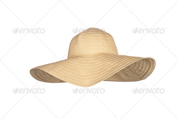 Beach sunhat - Stock Photo - Images