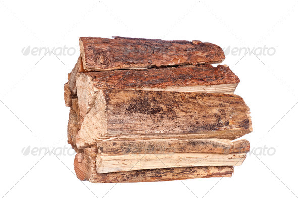 Stack of firewood - Stock Photo - Images