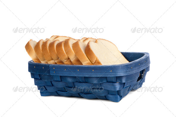 Basket of bread - Stock Photo - Images