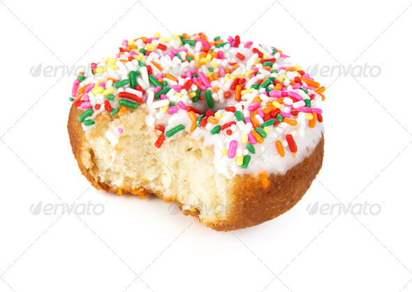 Bitten donut - Stock Photo - Images