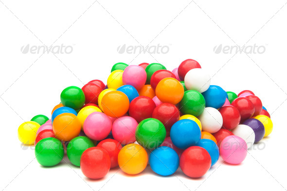 Colorful gumballs - Stock Photo - Images