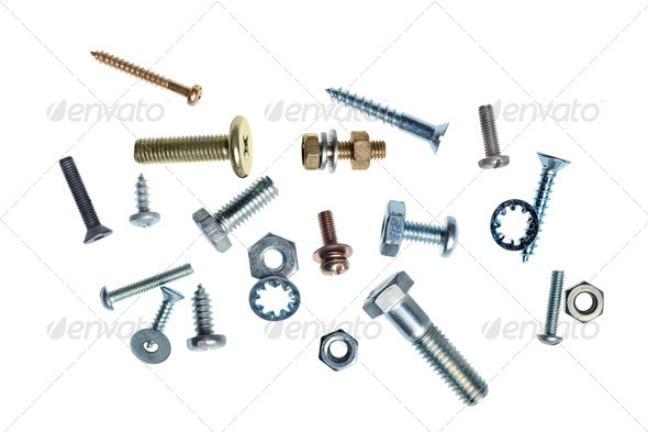 Nuts and bolts - Stock Photo - Images