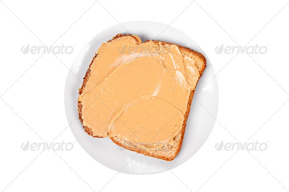 Peanutbutter sandwich - Stock Photo - Images
