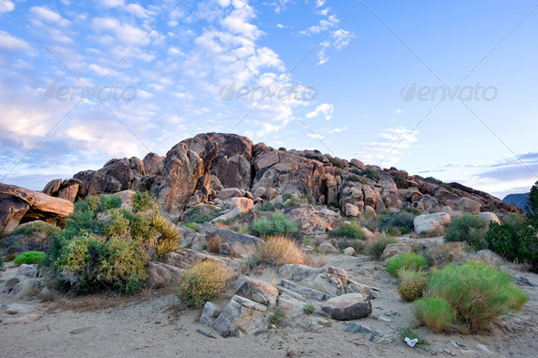 Desert mountain morning - Stock Photo - Images