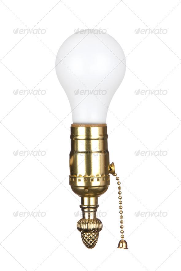 Light bulb in socket - Stock Photo - Images