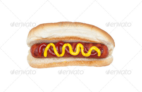 Grilled hotdog - Stock Photo - Images
