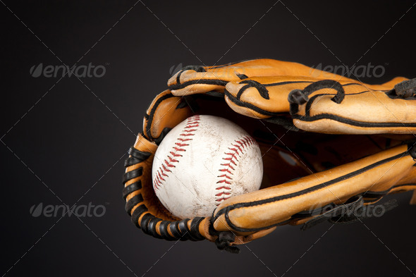 Baseball and glove - Stock Photo - Images