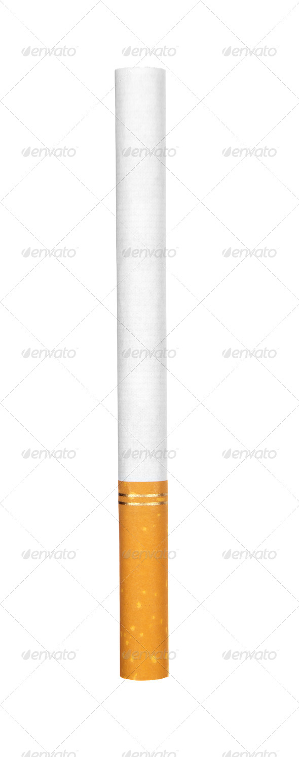 Cigarette on white - Stock Photo - Images