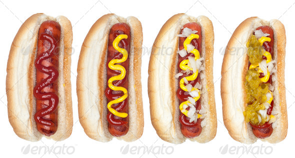 Collection of hotdogs - Stock Photo - Images